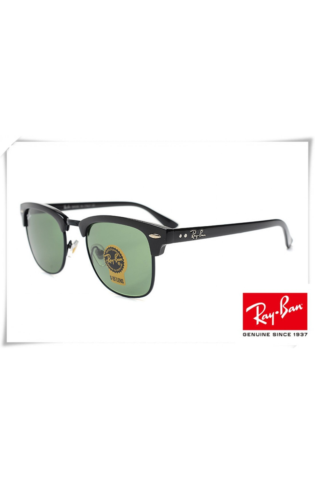 859381e80 Cheap Replica Ray Ban RB3016 Classic Clubmaster Sunglasses Black ...