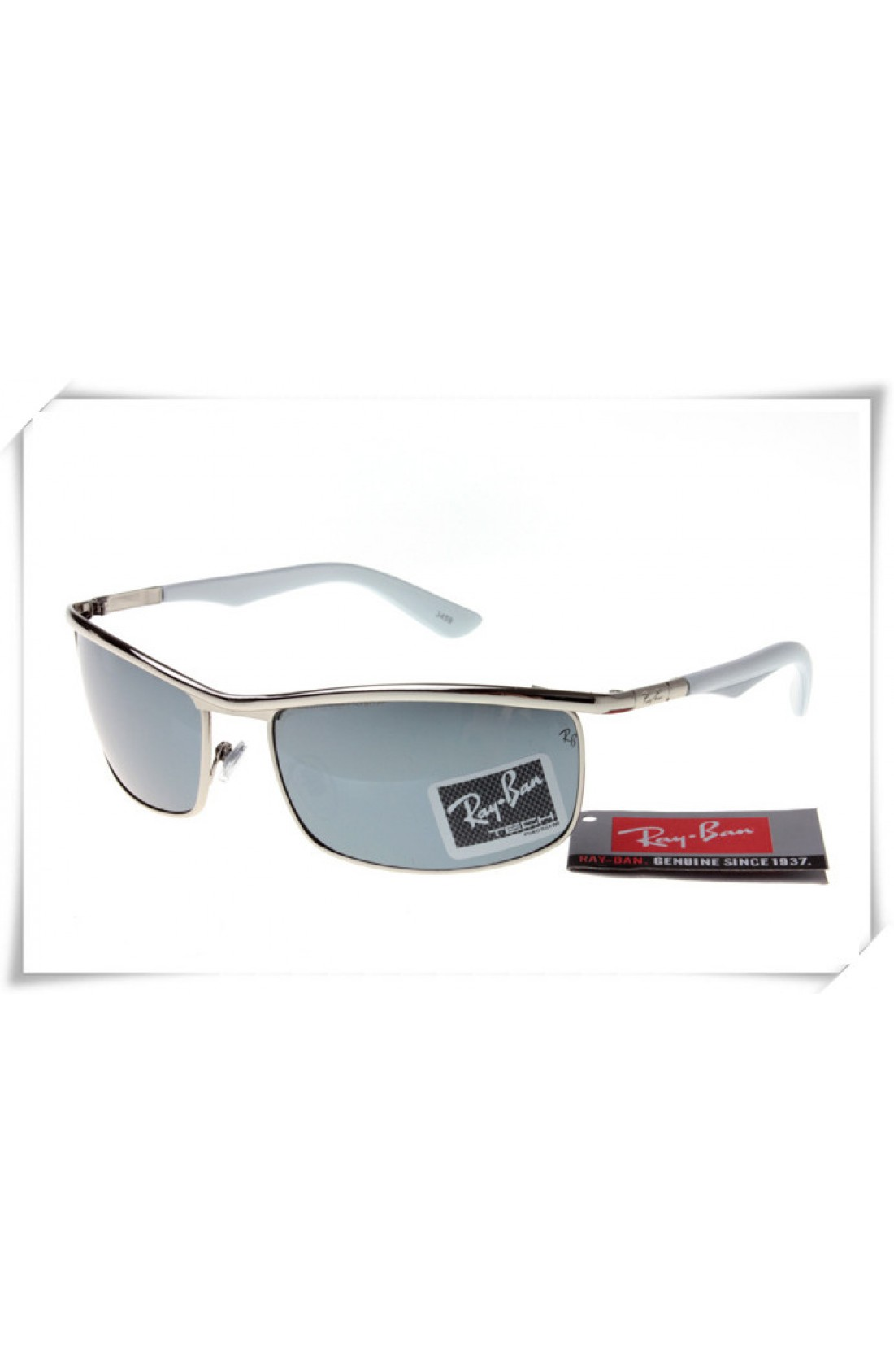 Ray Ban Rb3459 Sunglasses Gunmetal Grey Frame Grey Lens