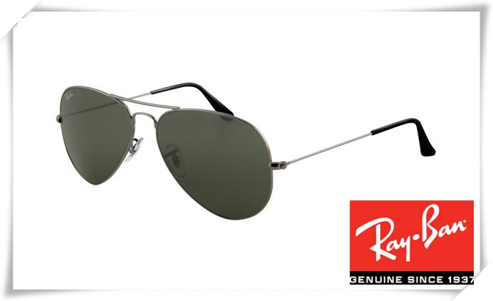 3cb36b471097 Cheap Fake Ray Ban RB3025 Aviator Sunglasses Gunmetal Frame Deep Green Lens